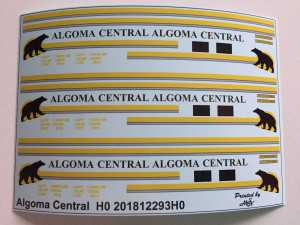 Algoma Central Decals 1:87 oder H0